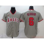MLB Los Angeles Angels #6 Anthony Rendon Grey 2020 Nike Cool Base Jersey