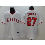 MLB Los Angeles Angels #27 Mike Trout White 2020 Nike Cool Base Jersey