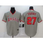 MLB Los Angeles Angels #27 Mike Trout Grey 2020 Nike Cool Base Jersey