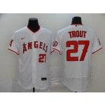 MLB Los Angeles Angels #27 Mike Trout White 2020 Nike Flexbase Jersey