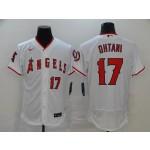 MLB Los Angeles Angels #17 Shohei Ohtani White 2020 Nike Flexbase Jersey