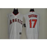 MLB Los Angeles Angels #17 Shohei Ohtani White Nike Cool Base Sleeveless Jersey