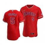 Men's Los Angeles Angels #5 Albert Pujols Nike Red Alternate 2020 Authentic Player MLB Jersey