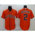 MLB Houston Astros #2 Alex Bregman Orange 2020 Nike Cool Base Jersey