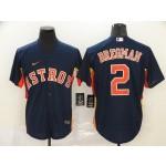 MLB Houston Astros #2 Alex Bregman Navy 2020 Nike Cool Base Jersey