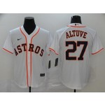 MLB Houston Astros #27 Jose Altuve White 2020 Nike Cool Base Jersey