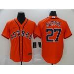 MLB Houston Astros #27 Jose Altuve Orange 2020 Nike Cool Base Jersey