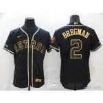 MLB Houston Astros #2 Alex Bregman Black Gold 2020 Nike Flexbase Jersey