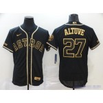 MLB Houston Astros #27 Jose Altuve Black Gold 2020 Nike Flexbase Jersey