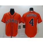 MLB Houston Astros #4 George Springer Orange 2020 Nike Cool Base Jersey