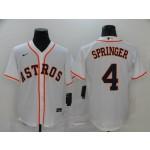 MLB Houston Astros #4 George Springer White 2020 Nike Cool Base Jersey
