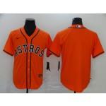 MLB Houston Astros Blank Orange 2020 Nike Cool Base Jersey