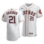 Men's Houston Astros #21 Zack Greinke Nike White Home 2020 Authentic Player MLB Jersey