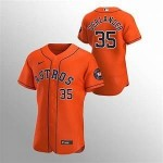 Men's Houston Astros #35 Justin Verlander Nike Orange Alternate 2020 Authentic Team MLB Jersey