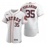 Men's Houston Astros #35 Justin Verlander Nike White Home 2020 Authentic Player MLB Jersey