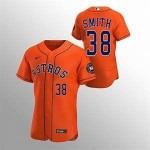 Men's Houston Astros #38 Joe Smith Nike Orange Alternate 2020 Authentic Team MLB Jersey