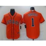 Houston Astros #1 Carlos Correa Orange Cool Base Jersey