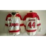 MLB Los Angeles Angels #44 Reggie Jackson Cream All Stitched Hooded Sweatshirt