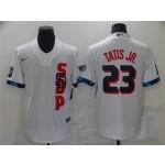 San Diego Padres #23 Fernando Tatis Jr. White 2021 MLB All-Star Game Cool Base Jersey