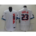 San Diego Padres #23 Fernando Tatis Jr. White 2021 MLB All-Star Game Flex Base Jersey