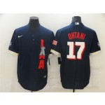 Los Angeles Angels #17 Shohei Ohtani Navy 2021 MLB All-Star Game Cool Base Jersey
