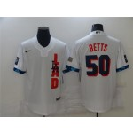 Los Angeles Dodgers #50 Mookie Betts White 2021 MLB All-Star Game Cool Base Jersey