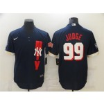 New York Yankees #99 Aaron Judge Navy 2021 MLB All-Star Game Cool Base Jersey