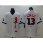 Atlanta Braves #13 Ronald Acuna Jr. White 2021 MLB All-Star Game Flex Base Jersey