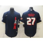 Los Angeles Angels #27 Mike Trout Navy 2021 MLB All-Star Game Cool Base Jersey