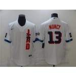 Los Angeles Dodgers #13 Max Muncy White 2021 MLB All-Star Game Cool Base Jersey