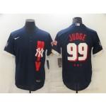 New York Yankees #99 Aaron Judge Navy 2021 MLB All-Star Game Flex Base Jersey
