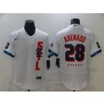 St. Louis Cardinals #28 Nolan Arenado White 2021 MLB All-Star Game Flex Base Jersey