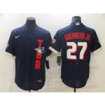 Toronto Blue Jays #27 Vladimir Guerrero Jr. Navy 2021 MLB All-Star Game Flex Base Jersey