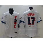 Chicago Cubs #17 Kris Bryant White 2021 MLB All-Star Game Flex Base Jersey