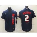 Boston Red Sox #2 Xander Bogaerts Navy 2021 MLB All-Star Game Flex Base Jersey