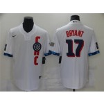 Chicago Cubs #17 Kris Bryant White 2021 MLB All-Star Game Cool Base Jersey