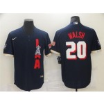Los Angeles Angels #20 Jared Walsh Navy 2021 MLB All-Star Game Cool Base Jersey