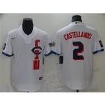 Cincinnati Reds #2 Nick Castellanos White 2021 MLB All-Star Game Cool Base Jersey