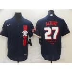 Houston Astros #27 Jose Altuve Navy 2021 MLB All-Star Game Flex Base Jersey