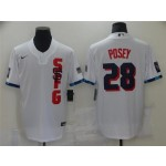 San Francisco Giants #28 Buster Posey White 2021 MLB All-Star Game Cool Base Jersey