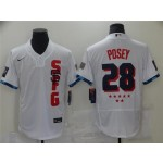 San Francisco Giants #28 Buster Posey White 2021 MLB All-Star Game Flex Base Jersey
