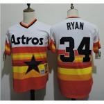 Men's Throwback Houston Astros #34 Nolan Ryan Rainbow Cooperstown Collection MLB Jersey