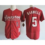 Men's Throwback Houston Astros #5 Jeff Bagwell Red Cooperstown Collection MLB Jersey