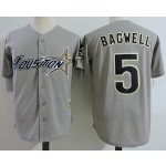 Men's Throwback Houston Astros #5 Jeff Bagwell Grey Cooperstown Collection MLB Jersey