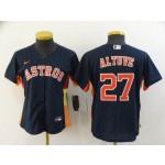 Women Houston Astros #27 Jose Altuve Navy 2020 Nike Cool Base Jersey