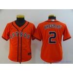 Youth Houston Astros #2 Alex Bregman Orange 2020 Nike Cool Base Jersey