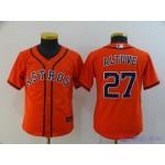 Youth Houston Astros #27 Jose Altuve Orange 2020 Nike Cool Base Jersey