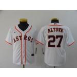 Youth Houston Astros #27 Jose Altuve White 2020 Nike Cool Base Jersey