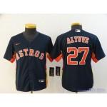 Youth Houston Astros #27 Jose Altuve Navy 2020 Nike Cool Base Jersey