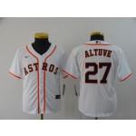 Youth Houston Astros #27 Jose Altuve White Nike Jersey